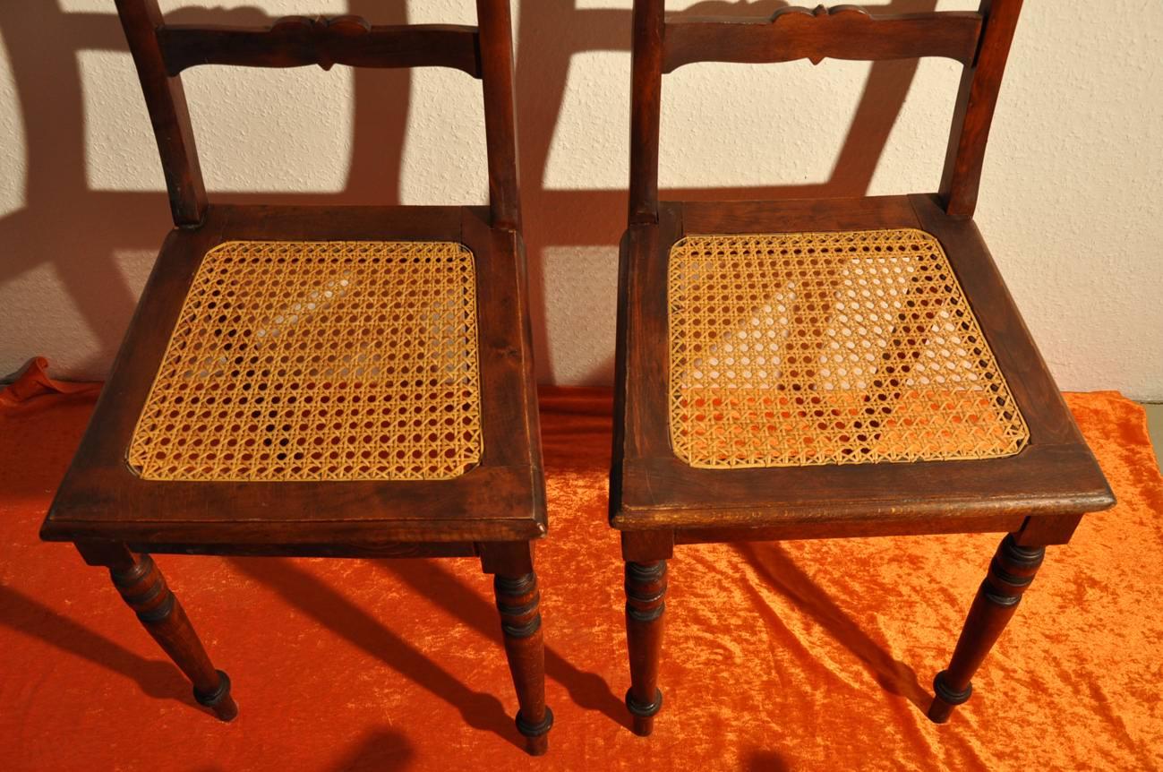 Gründerzeit Stühle Neu ~ Gründerzeit Stühle mit Korbgeflecht Vollholz Stühle  KuSeRa