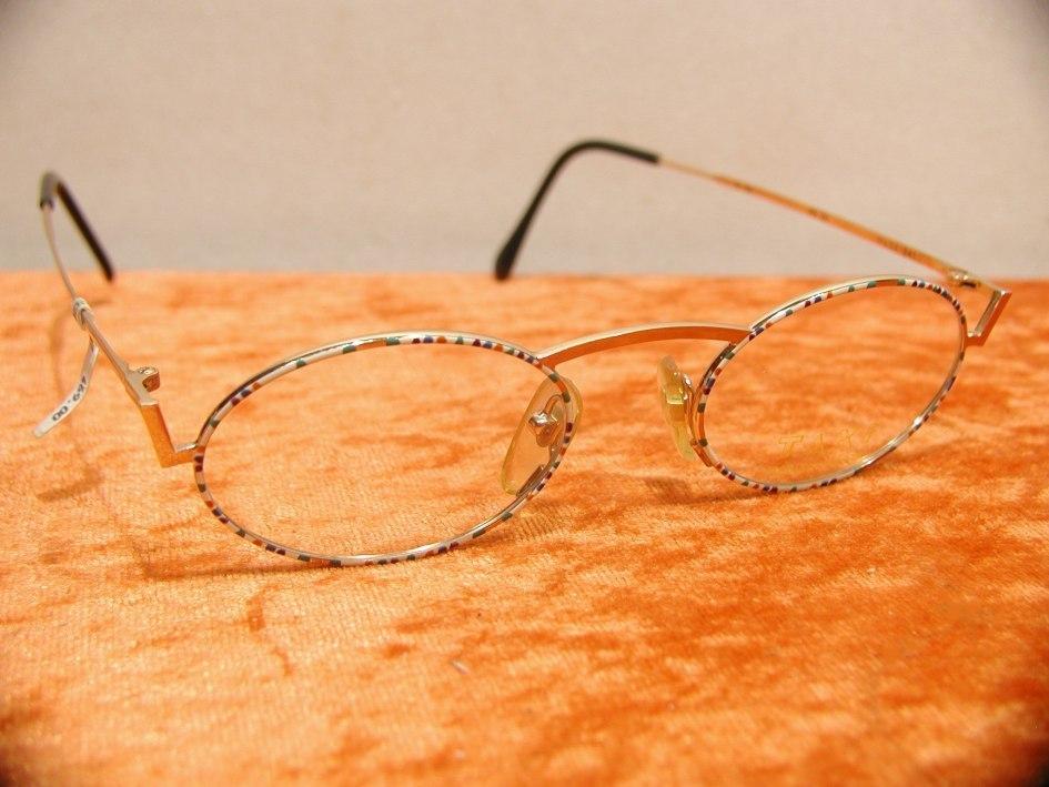 Brille bunt emailliert- Metall von TAXI - KuSeRa