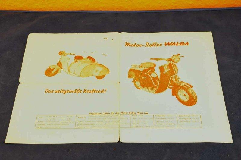 Motor Roller Walba Originaler Prospekt Kusera