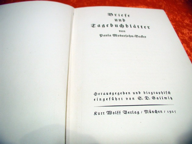 Briefe Und Tagebuchblätter Von Paula Modersohn Becker : P modersohn becker briefe und tagebuchblätter at shop