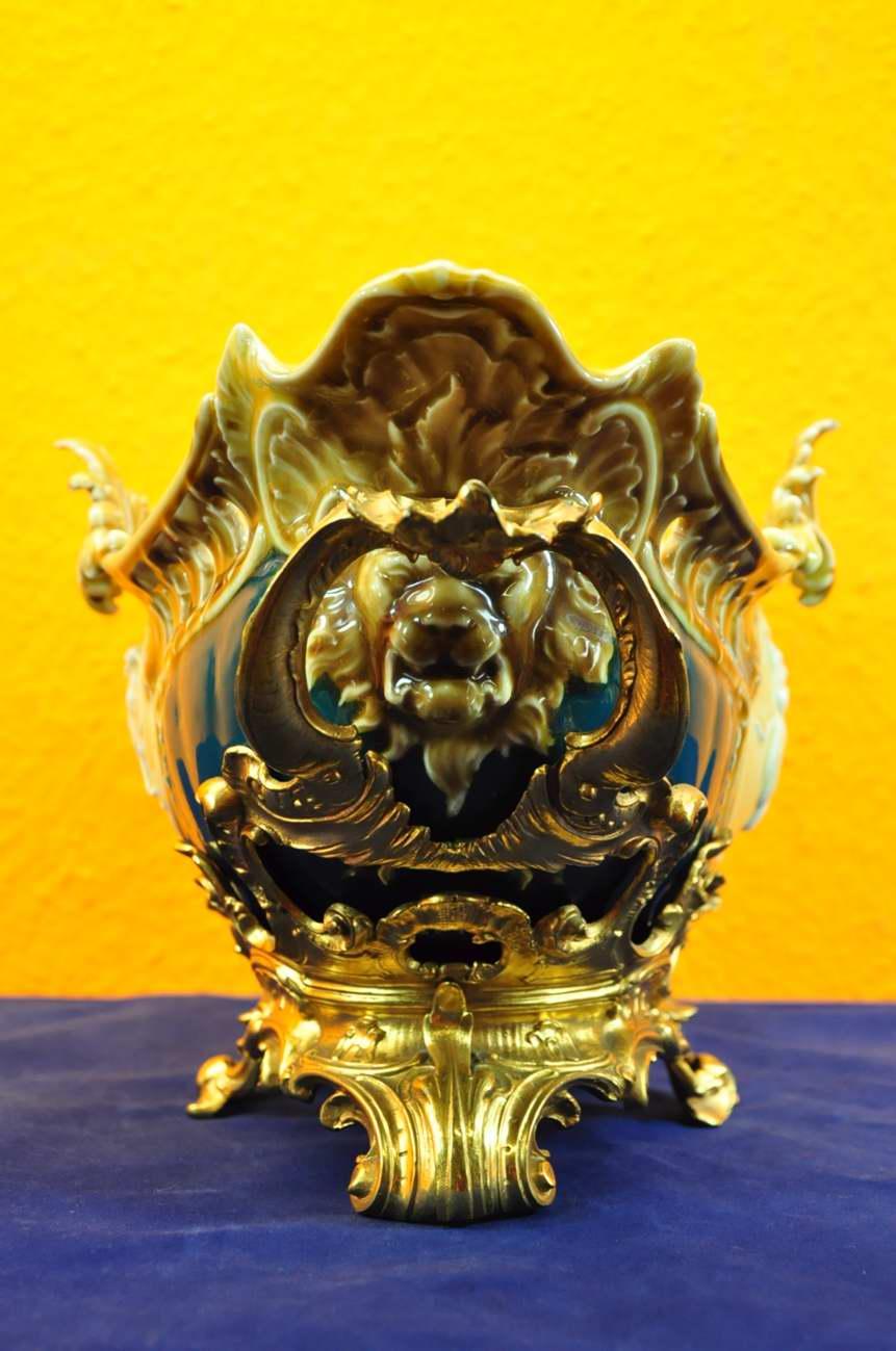 prunkschale kpm berlin seger porzellan bronze sockel kusera. Black Bedroom Furniture Sets. Home Design Ideas