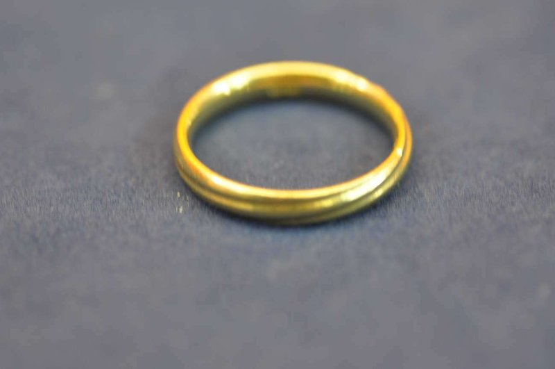 gold ring stamped 585 ag about 6 g 21mm kusera. Black Bedroom Furniture Sets. Home Design Ideas