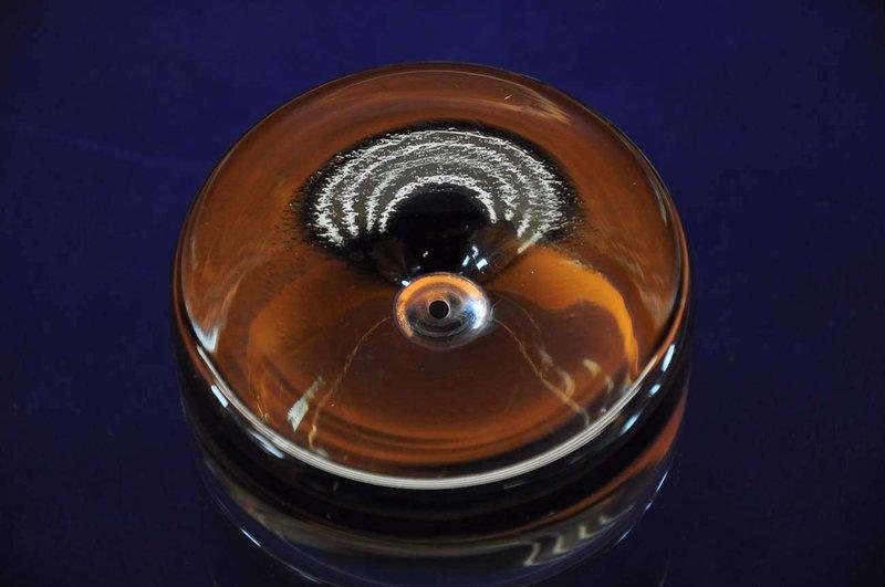 6 whisky kristall gl ser rauchglas mit blase im boden kusera. Black Bedroom Furniture Sets. Home Design Ideas