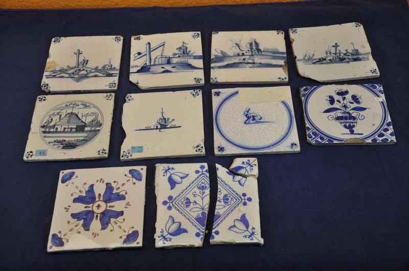 Alte fliesen  10 verschiedene alte Fliesen Delft / Holland 1800-1900 - KuSeRa