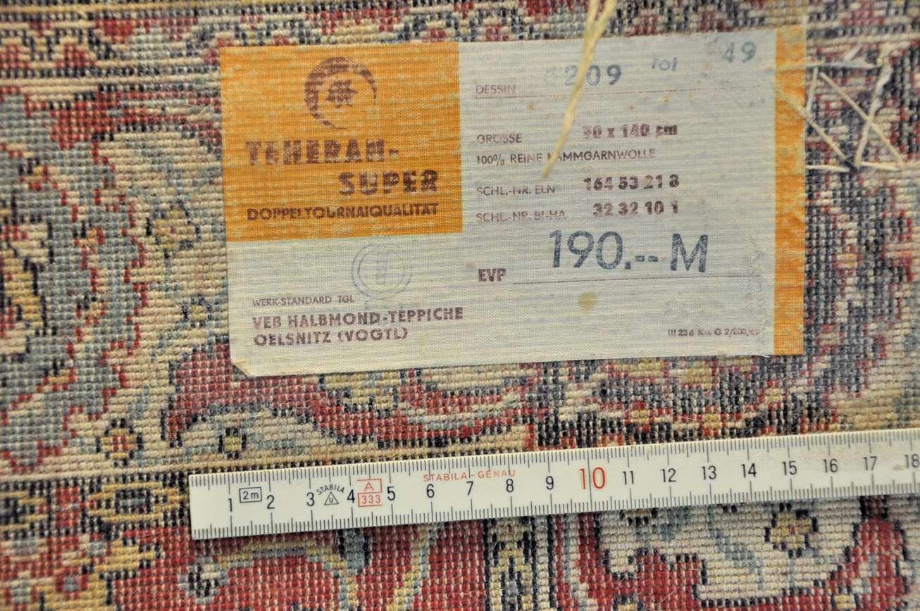 TeheranSuper VEB HalbmondTeppiche 70×140 cm  KuSeRa