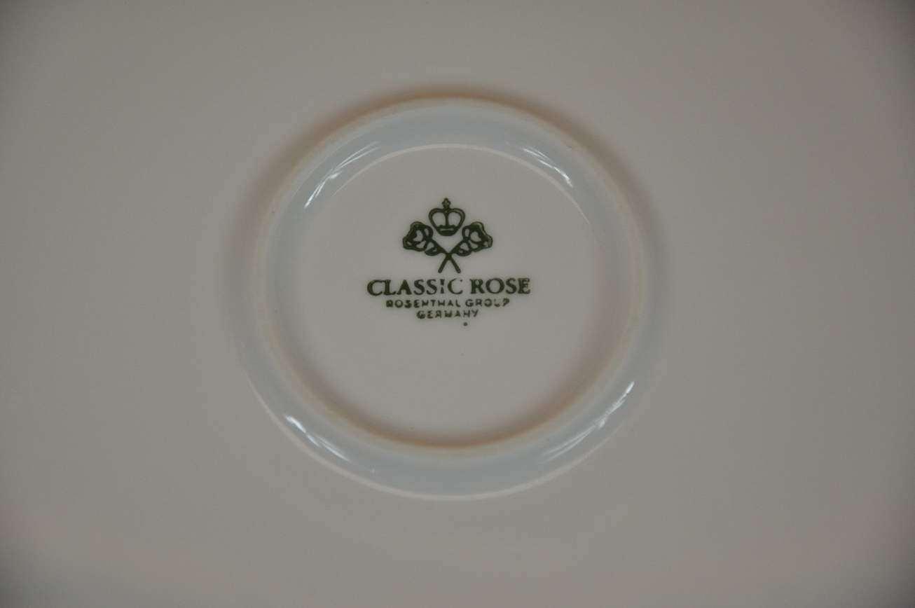 rosenthal classic rose monbijou gr ne ranke pie plate kusera. Black Bedroom Furniture Sets. Home Design Ideas