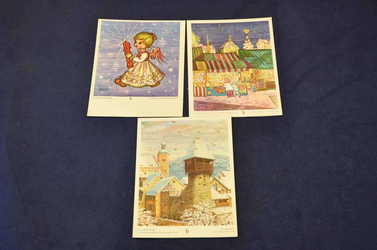 Alte Weihnachtskalender.Spielzeug Kinder Alte Postkarte Als Weihnachtskalender