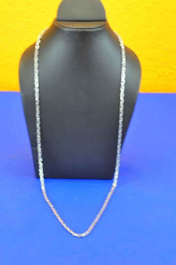 flat chain necklace 333 white gold 80cm long at shopkusera