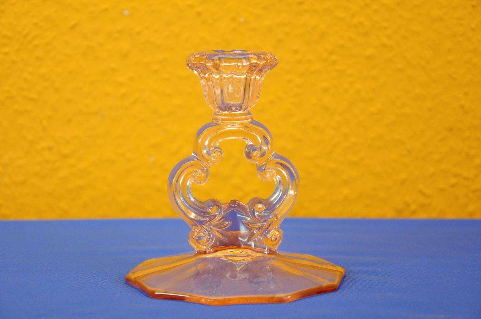 vintage roslin pressglas kerzenhalter art deco bei shop kusera. Black Bedroom Furniture Sets. Home Design Ideas
