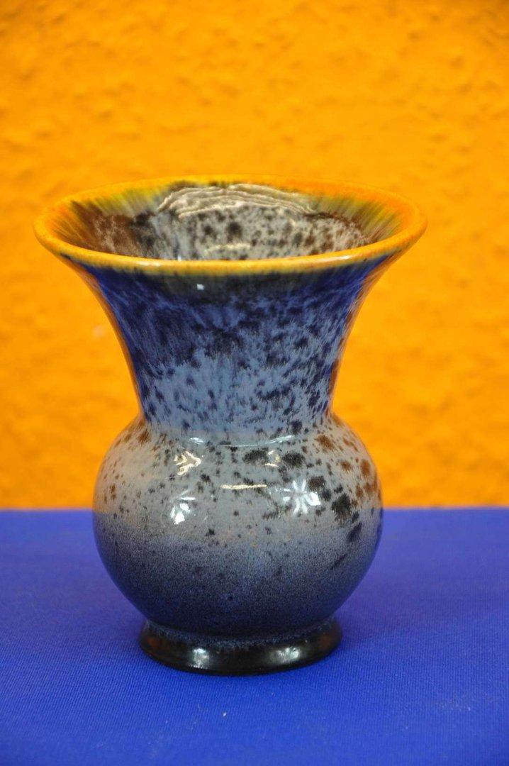keramik vase in grau orange verlaufglasur 60er jahre kusera. Black Bedroom Furniture Sets. Home Design Ideas