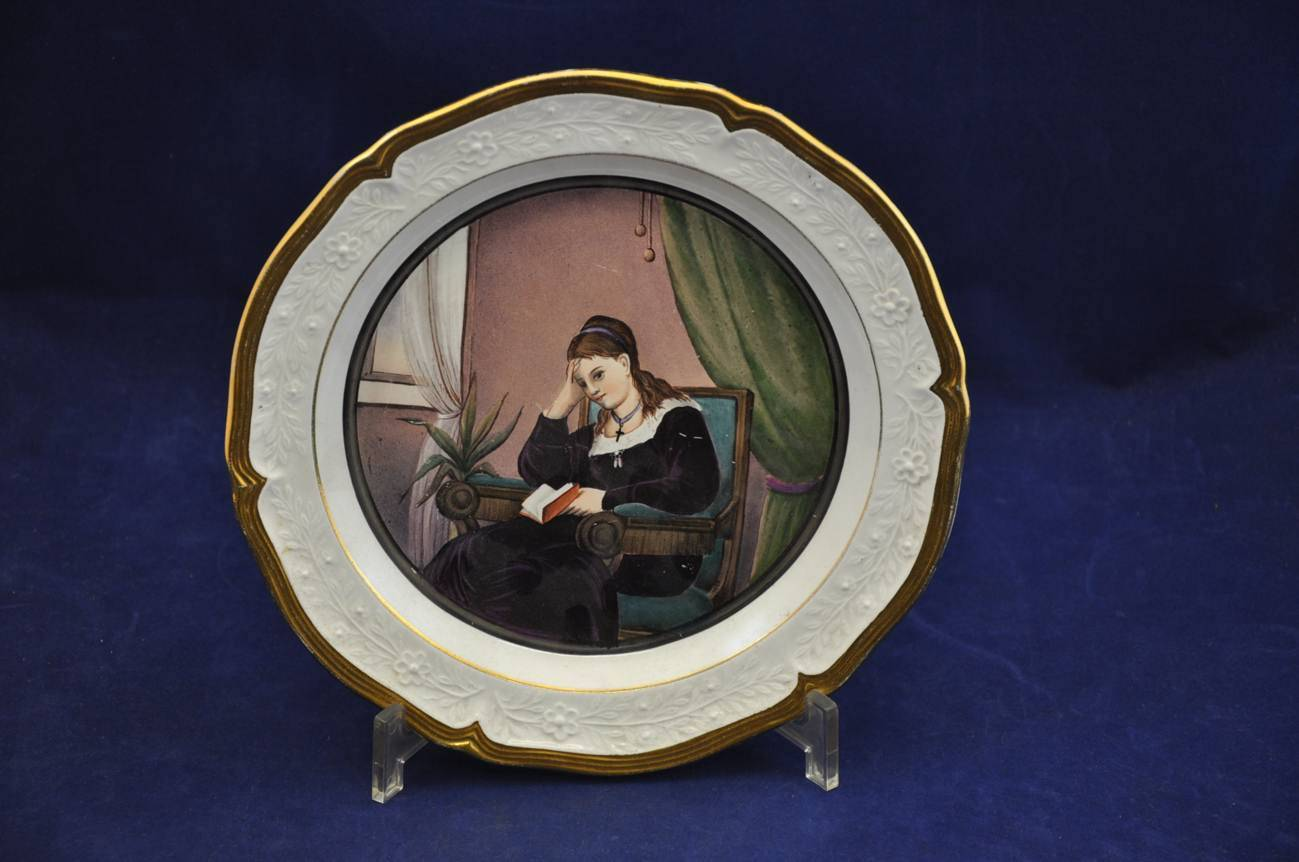 villeroy boch of signed plate with portrait kusera. Black Bedroom Furniture Sets. Home Design Ideas