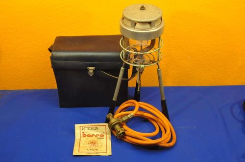 Camping Gas Lampe Laterne Jenaer Suprax Glas 1960