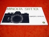 Minolta SR-T 101 Owner's Manual in englisch