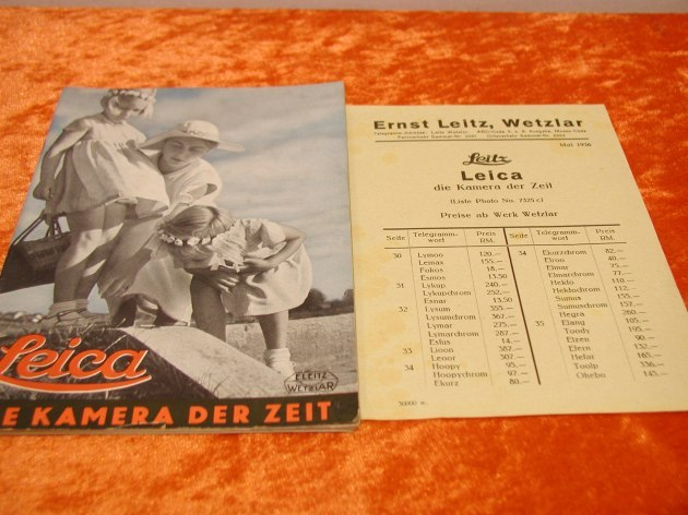 ernst leitz wetzlar brochure price key 37 pages 1935 kusera. Black Bedroom Furniture Sets. Home Design Ideas