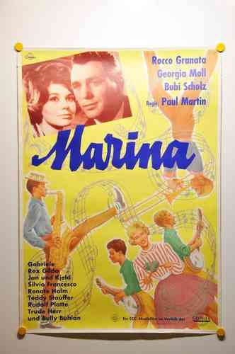 Mid Century german movie poster Marina A1