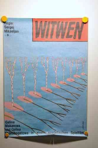 Movie poster Witwen - GDR 1976 / 1990