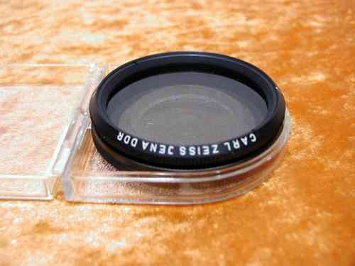Bernotar Carl Zeiss Jena DDR M49P Polfilter + Box