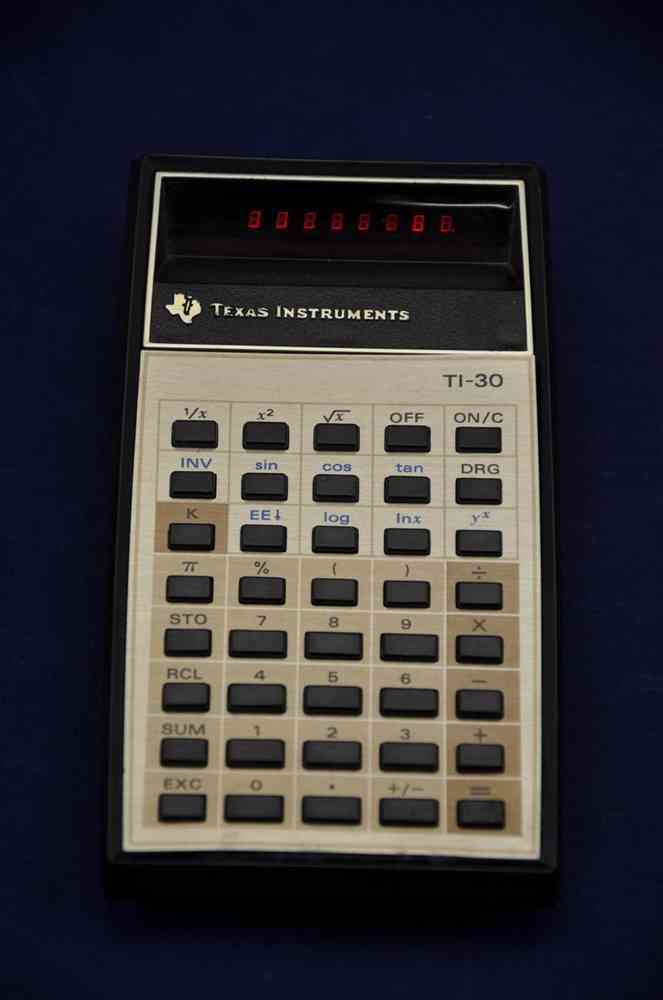 red led texas instruments ti 30 calculator kusera for sale