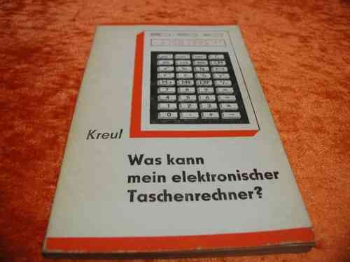 What can my electronic calculator?