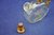 Mid Century Liqueur decanter clear / amber