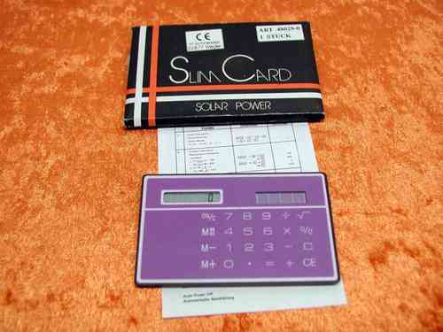 Slim Card Solar Power Calculator Interlogistik