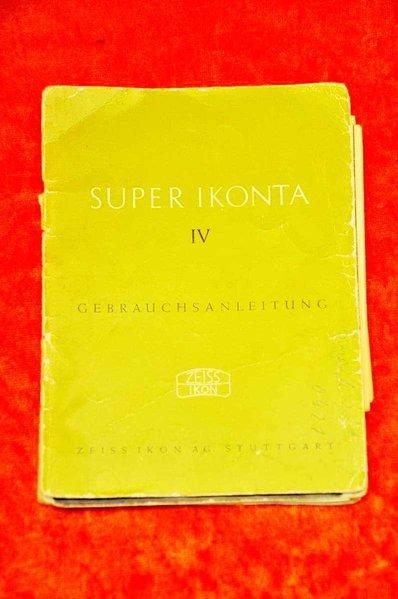 Zeiss Ikon Super Ikonta IV instructions 32 p  in german