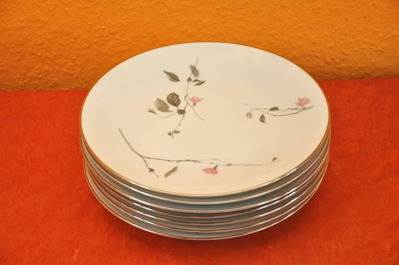 7x rosenthal japanese cherry blossom 25 cm dinner plate kusera. Black Bedroom Furniture Sets. Home Design Ideas