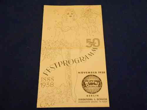 50 years Winter Garden Festival program 1938