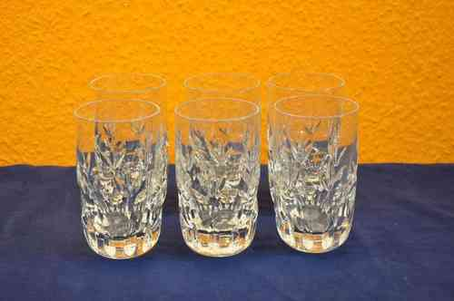 Nachtmann Bamberg 6 crystal glasses for water