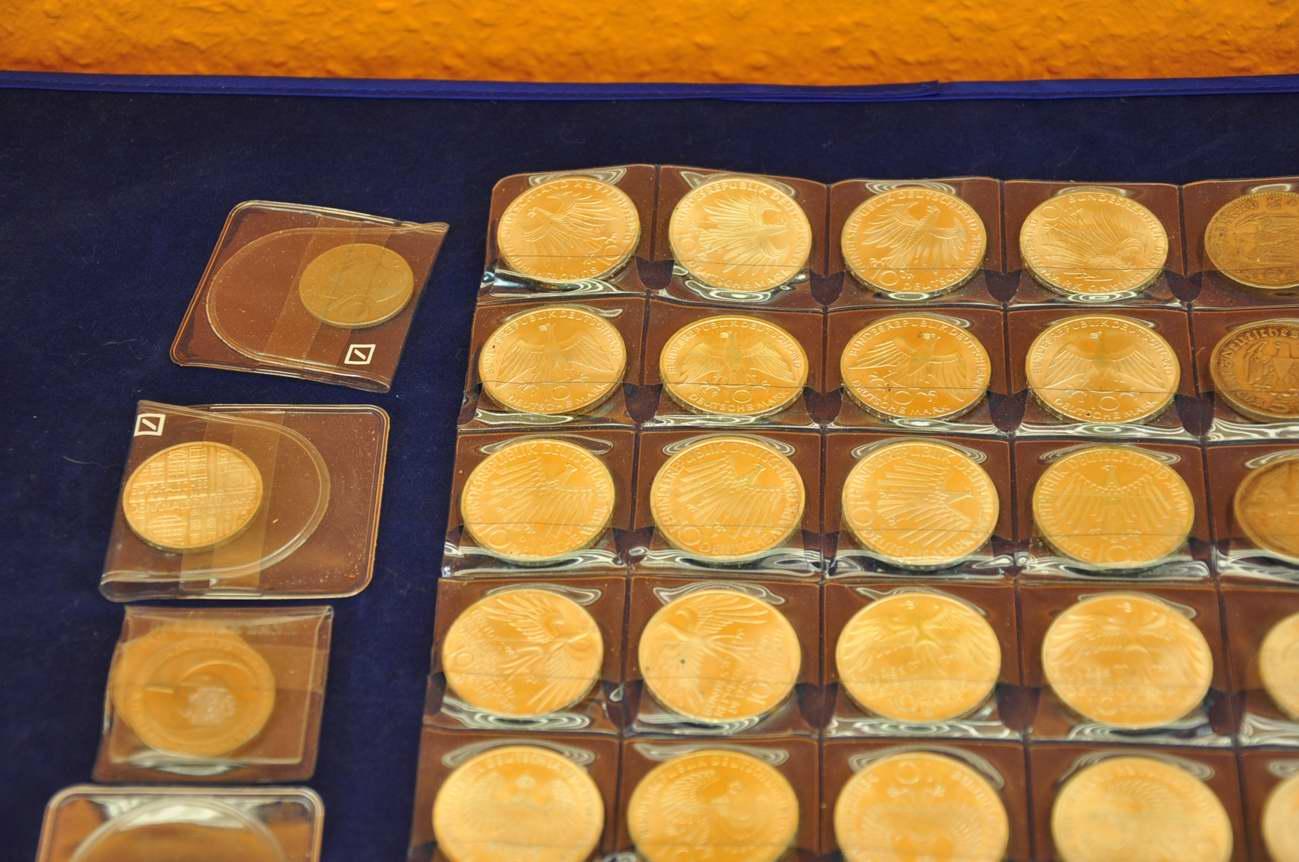 44 Deutschland Münzen 10 Dm Olympia 5 Dm Rm Kusera