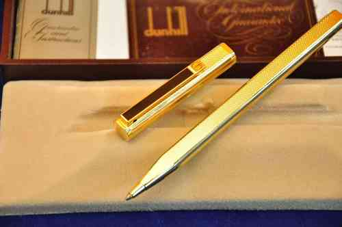 Dunhill Ballpen 925 silver gold plated in China lacquer
