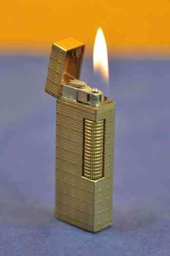 Dunhill Rollagas lighter gold plated around 1970
