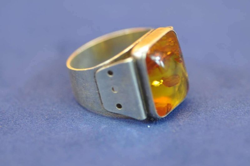 Fischland Bernstein Ring 835 Silber ø Ca20mm Bei Kusera Kaufen