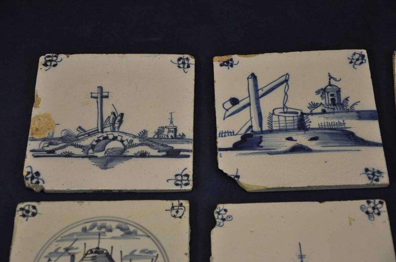 10 verschiedene alte fliesen delft holland 1800 1900 kusera. Black Bedroom Furniture Sets. Home Design Ideas