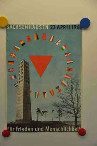 Poster Sachsenhausen April 23, 1961 by Wittkugel 40x28