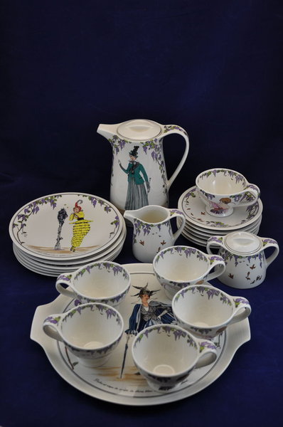 Villeroy Boch Coffee Service For 6 Persons Style 1900 Kusera
