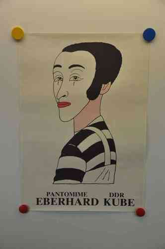 pantomime DDR Eberhard Kube 1981 Poster