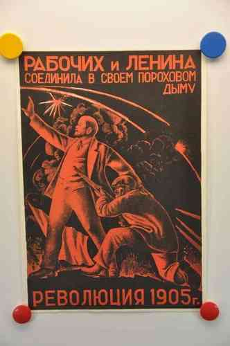 Poster session of Soviet posters Revolution 1905