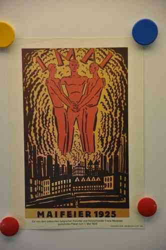 Reprint May Day Poster 1925 by Frans Masereel 29x20cm