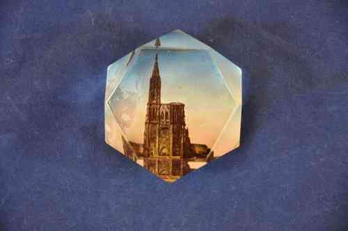 Paperweight Strassburger Münster Cathedrale 1900