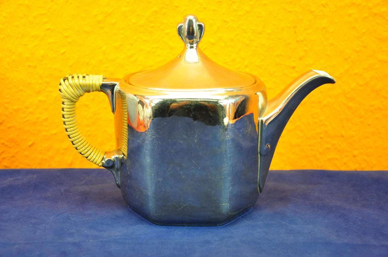 Teekanne versilbert art deco um 1920 kusera for Art deco online shop