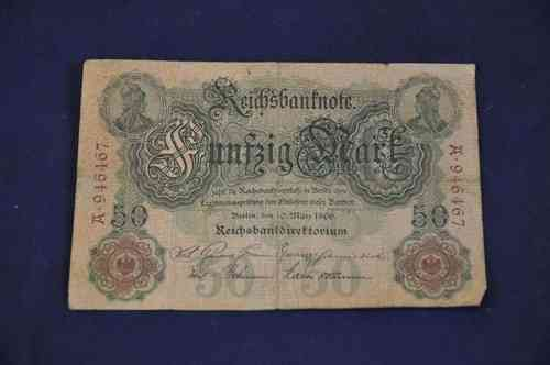 Reichsbanknote 50 Mark Berlin the 10th of March 1906