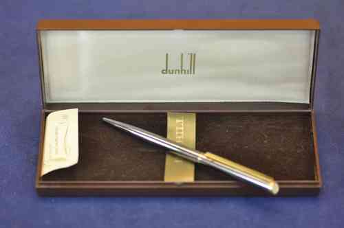 Dunhill Ballpoint pen titanium high gloss / gold + box