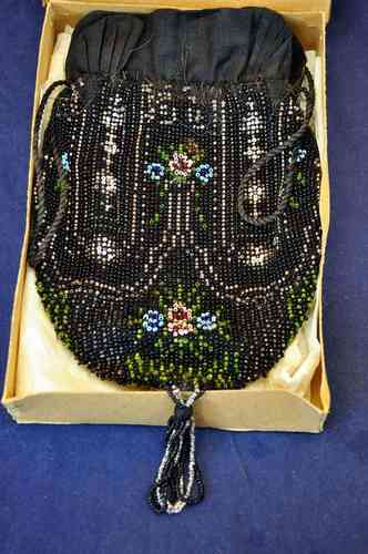 Biedermeier beads bag handmade