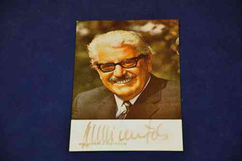 Autogrammkarte Willy Millowitsch Autogramm handsigniert
