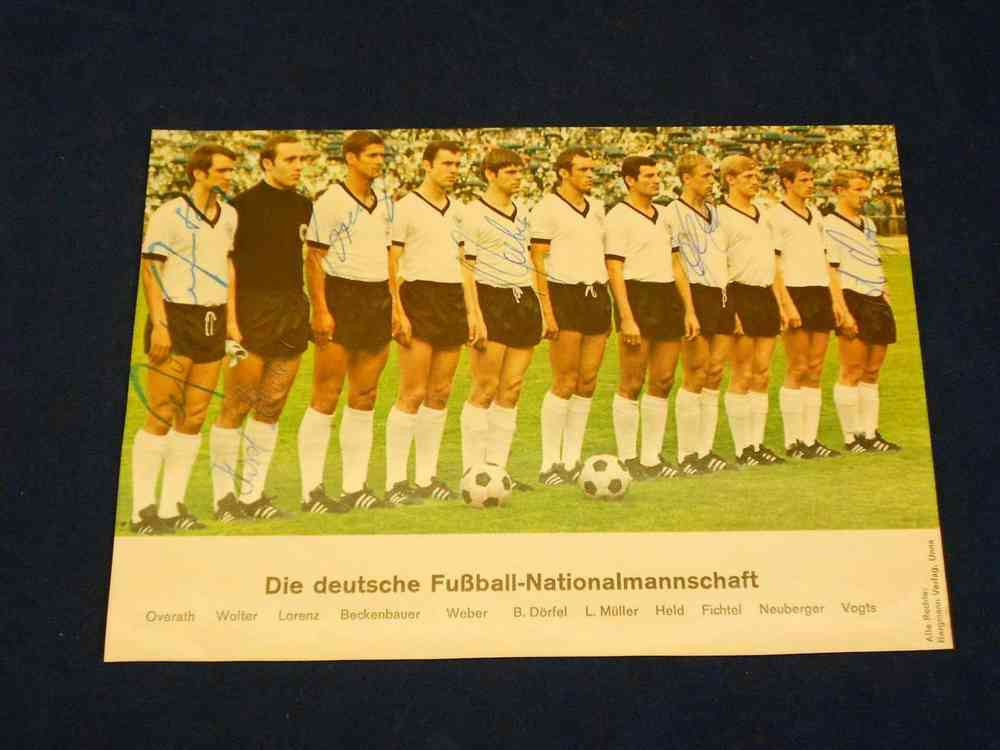 Deutsche Nationalmannschaft 1974 Autogrammkarte Signiert