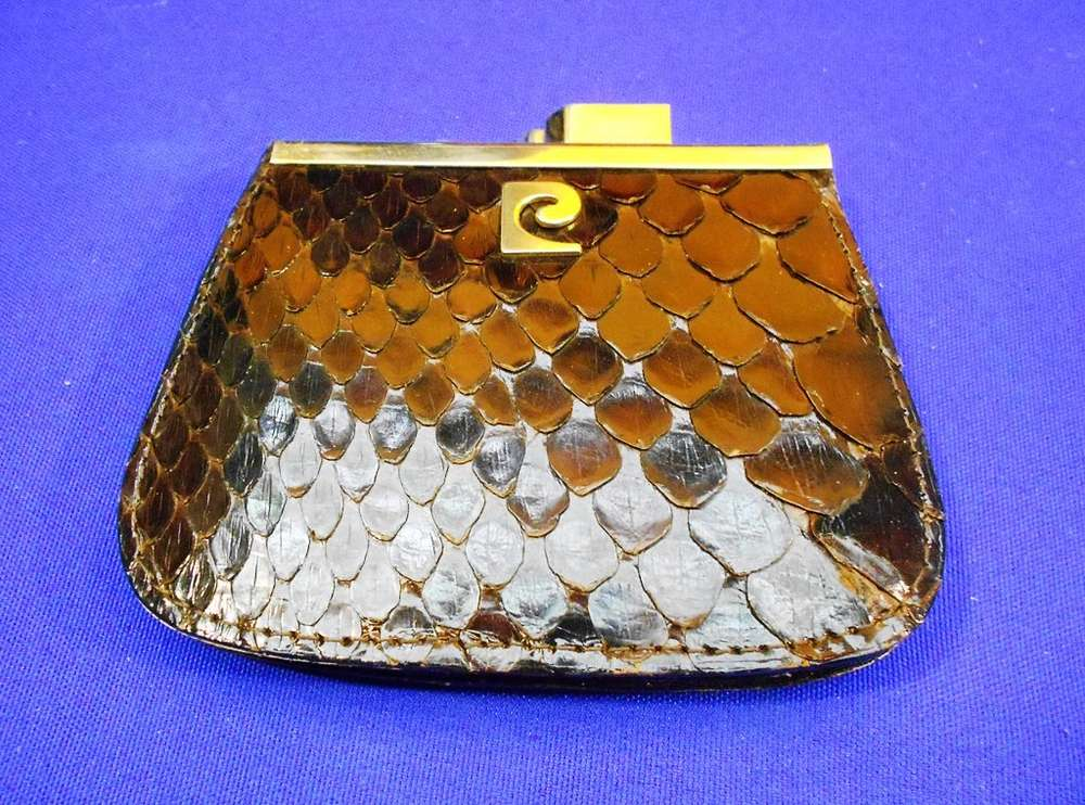5a45979809 Designer purse snakeskin in brown - for sale at Shop KuSeRa