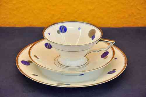 Thomas tea cup set 1940s Art Deco