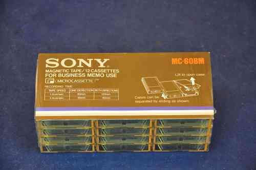 12x Sony Microcassette MC-60BM original packaging