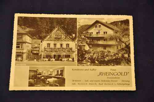 Ak Pastry & Coffee House Rheingold Tourist Home in 1957
